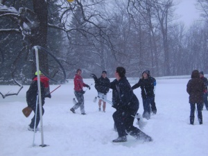 Michigan State students play Muggle Quidditch