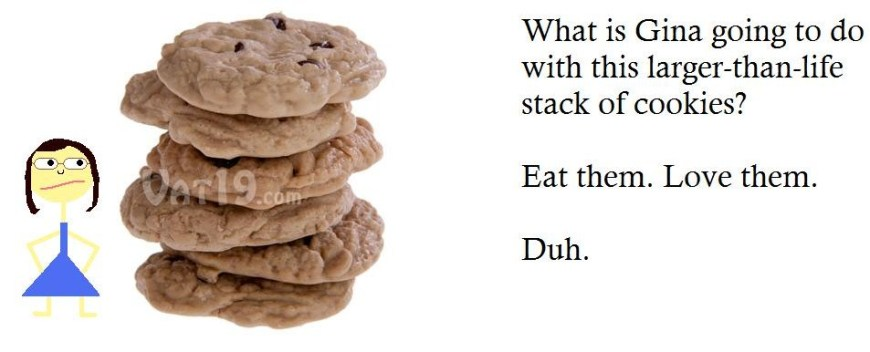Gina's stack of cookies